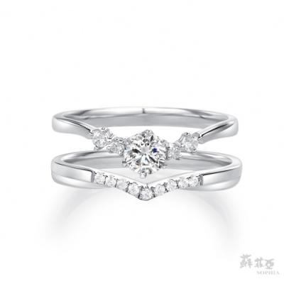 SOPHIA 蘇菲亞珠寶 - 相契 0.30克拉 18K白金 鑽石戒指