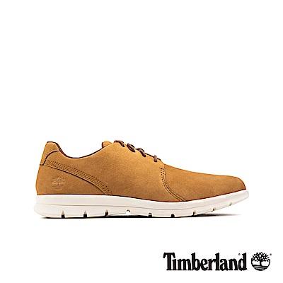 Timberland 男款淺褐色絨面革休閒牛津鞋|A1XGB