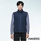 【HAKERS】男款 保暖刷毛背心(石墨藍)
