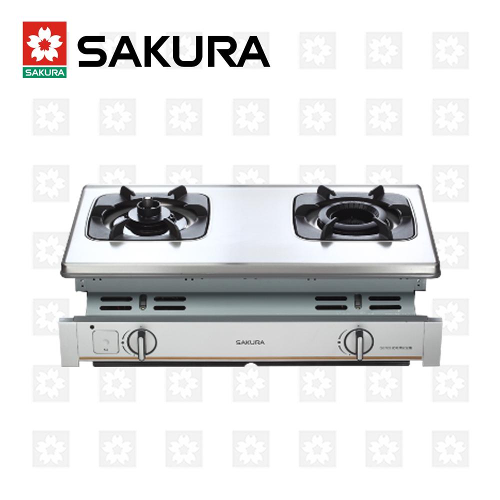 櫻花牌 SAKURA 內燄防乾燒嵌入爐 G-6703 天然瓦斯 限北北基配送安裝(除三峽林口鶯歌外)