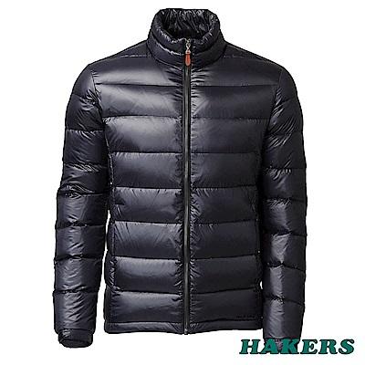 【HAKERS 哈克士】男款 羽絨外套-隕石黑