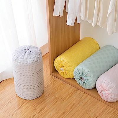 E.City_(買3送3)PEVA圓形束口棉被袋收納袋 共6入