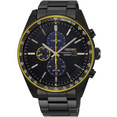 SEIKO 精工Criteria 耀眼時刻太陽能計時腕錶(SSC729P1)
