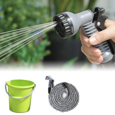 創意達人xUdlife彈力伸縮水管+水桶2件組