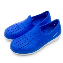 GOODYEAR 排水透氣輕便水陸多功能休閒洞洞鞋 藍 83706