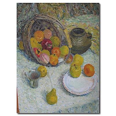 橙品油畫布-單聯式直幅 掛畫大無框畫-收成-60x80cm