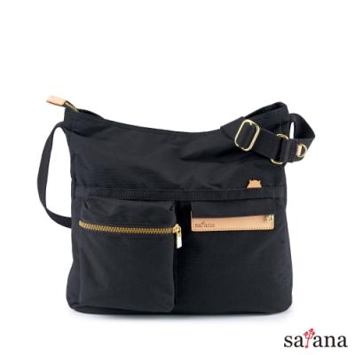 satana - Soldier 好心情斜肩包 - 黑色