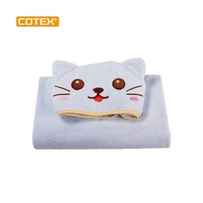 COTEX可透舒 可愛造型浴巾 凱特貓 藍色