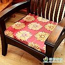 【格藍傢飾】花開富貴立體坐墊-紅