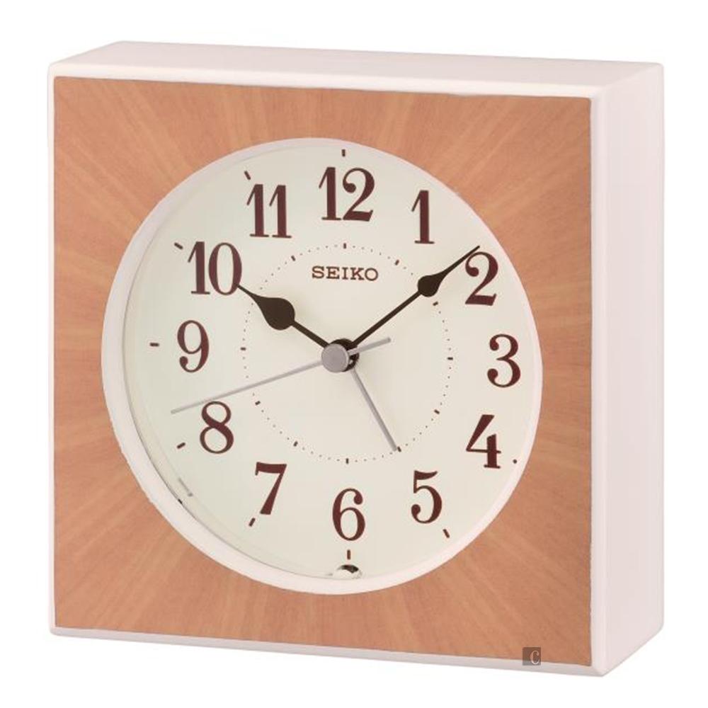 SEIKO 精工 木質系列嗶嗶鬧鐘(QXE060B)