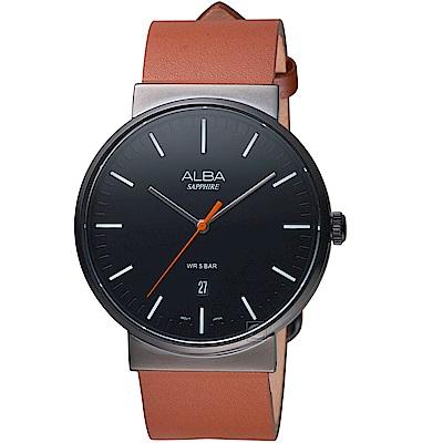 ALBA雅柏簡約潮流時尚腕錶(AS9H43X1)-黑