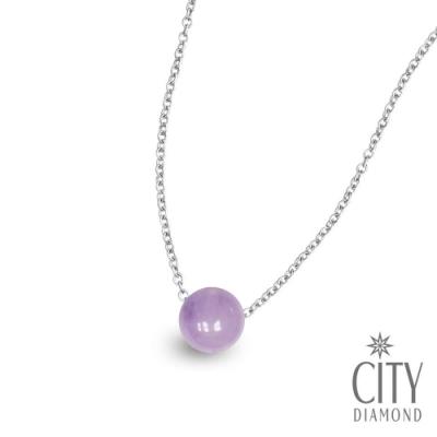 City Diamond【開運手作設計】淺紫水晶 單顆頸鍊/項鍊