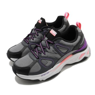 Skechers 休閒鞋 Energy Racer 增高 老爹鞋 女鞋 異材質拼接 止滑 耐用 穿搭 反光 灰 紫 149371CCPK