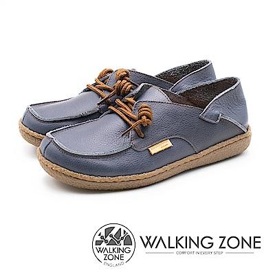 WALKING ZONE 皮革兩穿休閒鞋 女鞋 - 藍(另有米白/紅)