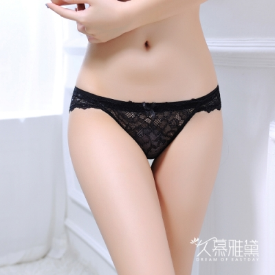 內褲  蕾絲甜心 ‧ 蕾絲精品高質感小褲。黑色 久慕雅黛
