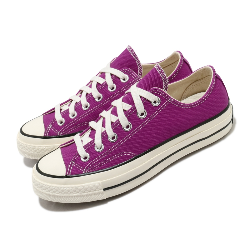 Converse 休閒鞋 All Star 低筒 穿搭 男女鞋 基本款 三星黑標 簡約 情侶款 帆布 紫 米白 168506C