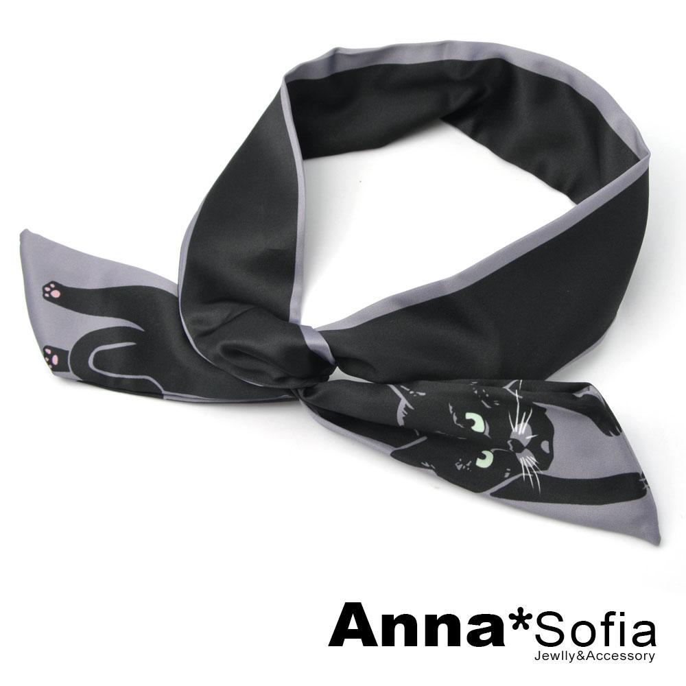 【3件480】AnnaSofia 俏萌動物 兔耳髮帶髮圈領結帶(黑貓系) @ Y!購物