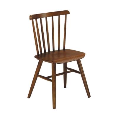 柏蒂家居-卡梅隆胡桃色實木餐椅(單椅)-44x38x86cm