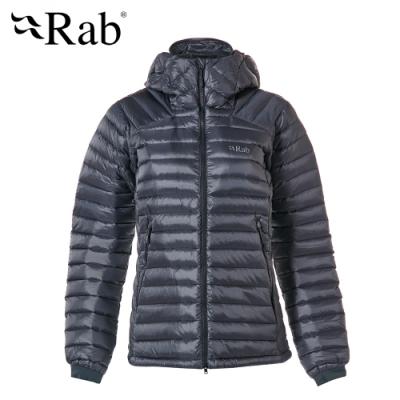 【RAB】Microlight Summit 羽絨連帽外套 女款 鋼鐵藍#QDA89