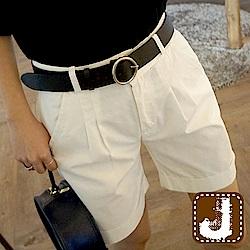 正韓 百搭舒棉壓摺五分短褲-(共四色)100%Korea Jeans