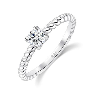 Majalica單鑽求婚女戒婚戒925純銀戒指推薦品牌 幸福時刻 單個價格(MIT)