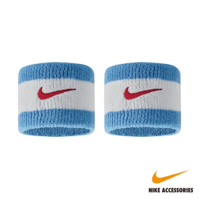 NIKE耐吉 SWOOSH 腕帶 (藍/白)