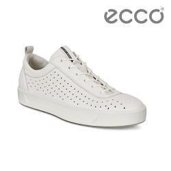 ECCO SOFT 8 W 簡約休閒鞋 女-白