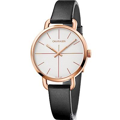Calvin Klein K7B even 超然時尚腕錶K7B236C6-玫瑰金/36mm