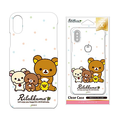 iPhone X 拉拉熊/角落生物 PC/透明/彩繪 硬殼 5.8吋-拉拉熊