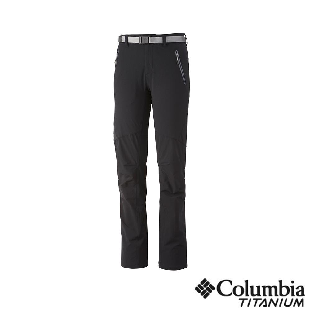 Columbia 哥倫比亞 女款-鈦 UPF40防潑長褲-黑色 UAR87640BK