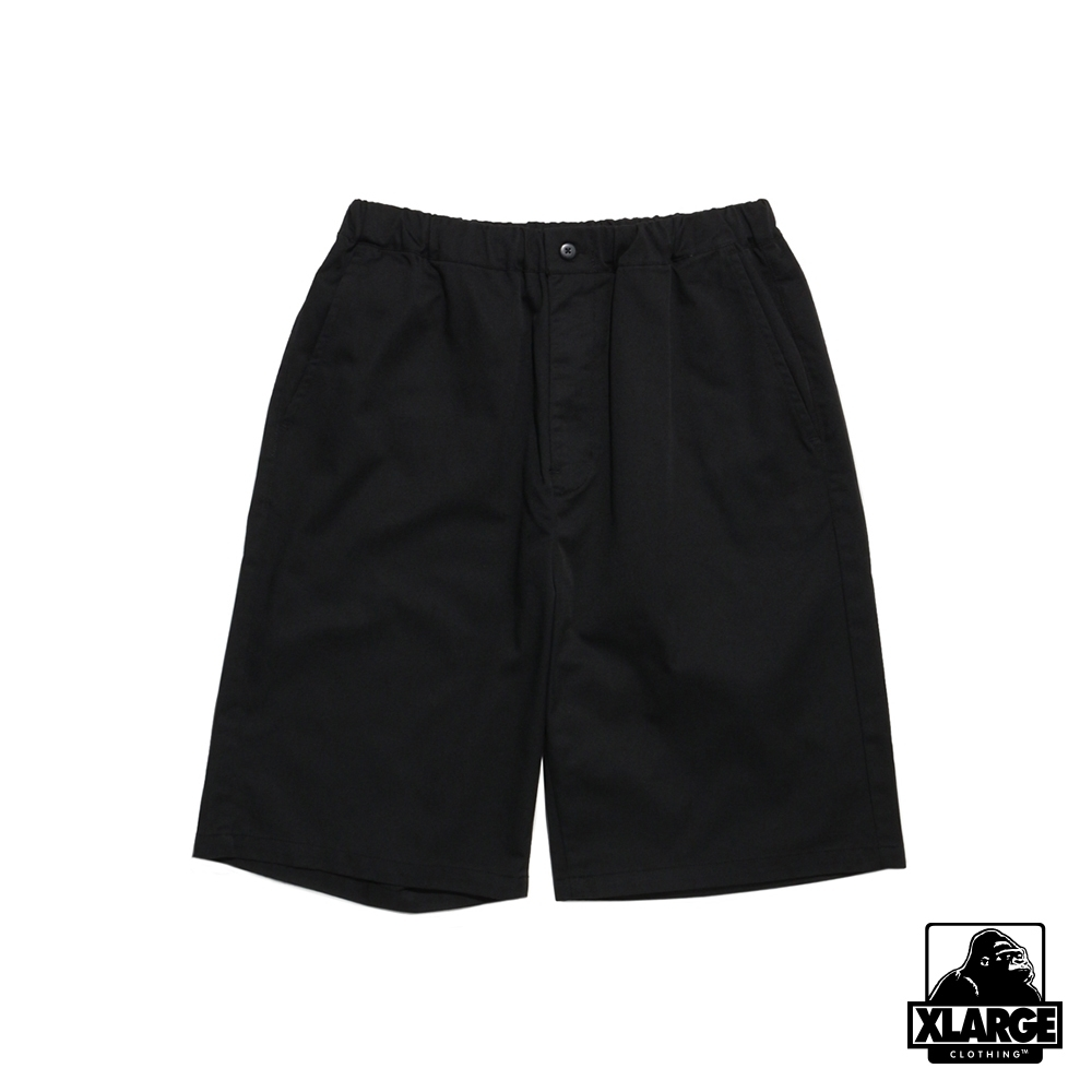 XLARGE WORK EASY SHORT PANTS 鬆緊工作短褲-黑