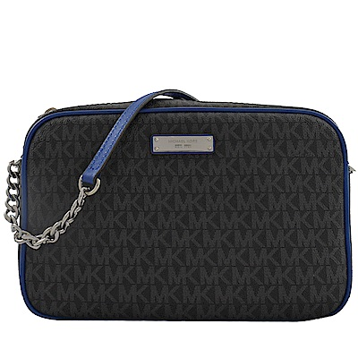 MICHAEL KORS CROSSBODIES PVC斜背相機包(黑灰藍)