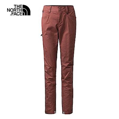 The North Face北面女款紅色舒適耐穿戶外休閒褲|3L773YJ