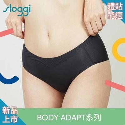 sloggi BODY ADAPT體貼適形系列中腰平口小褲 M-EL 純粹黑 87-2210 04