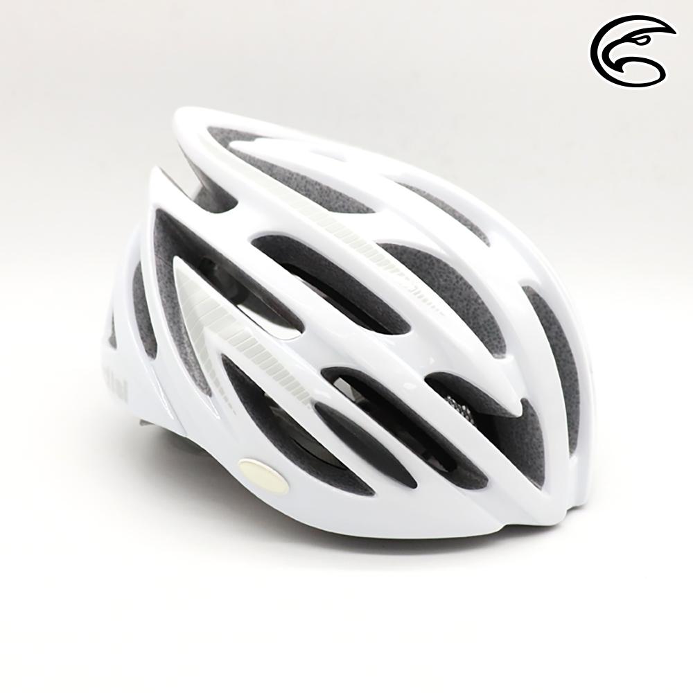 【ADISI】自行車帽 CS-6000 / 亮白-灰