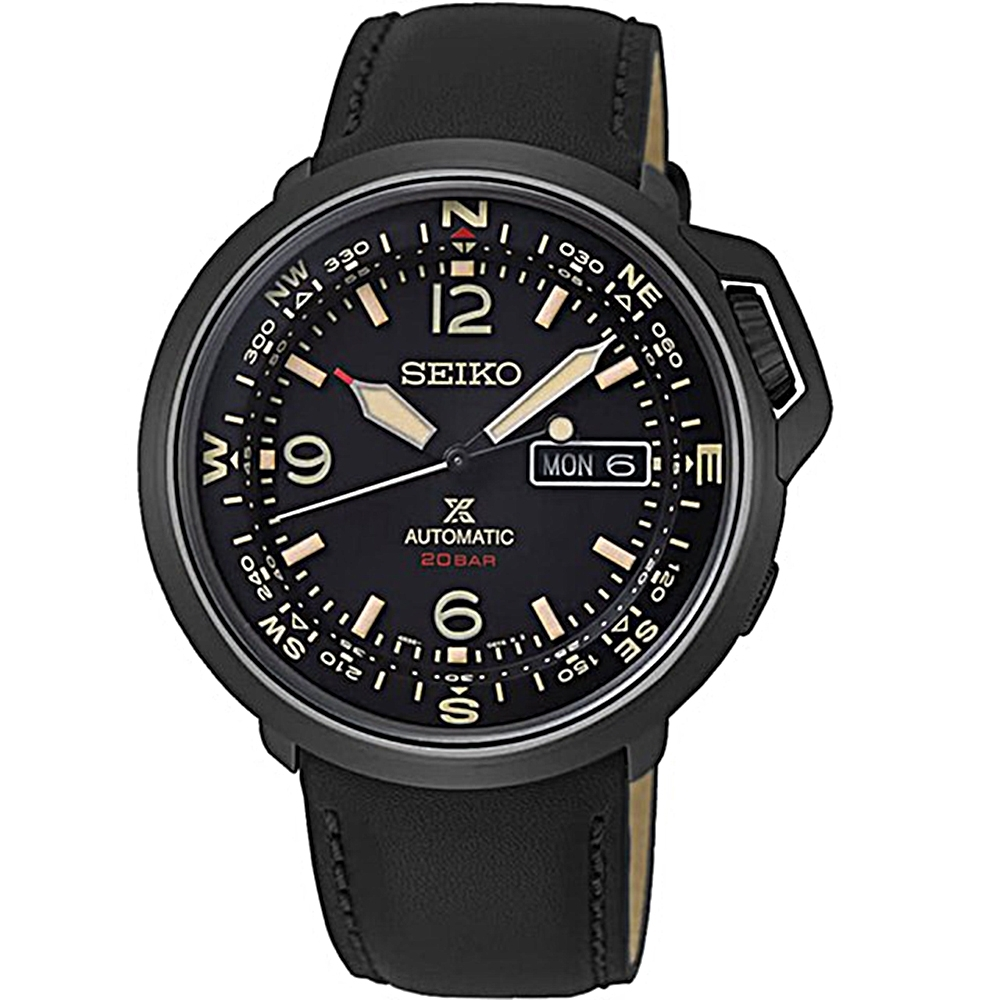 SEIKO精工PROSPEX復古時尚機械皮錶(4R36-07A0SD/SRPD35J1)