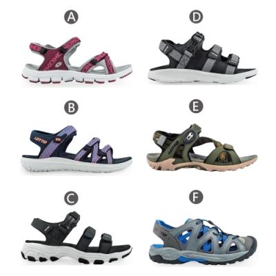 [時時樂限定]LOTTO 義大利 男女 休閒織帶涼鞋-6款可選