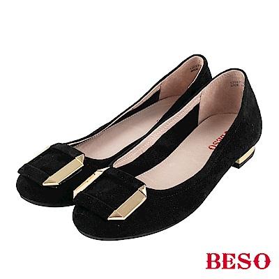BESO 甜心風格 方釦娃娃鞋~黑
