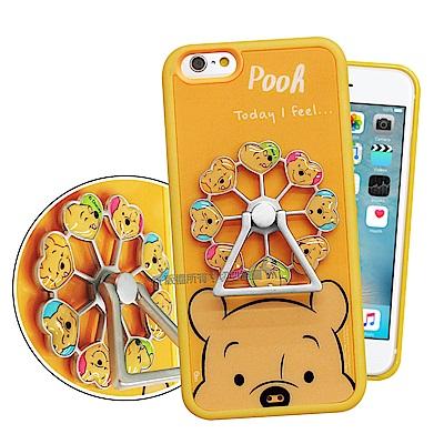 迪士尼 iPhone 6s Plus/6 Plus 摩天輪指環扣防滑支架手機殼(維尼)