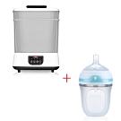 Nuby蒸氣消毒烘乾鍋+Nuby Comfort 寬口徑防脹氣矽膠奶瓶 150ml