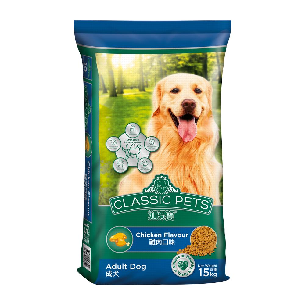 Classic Pets 加好寶成犬乾狗糧 – 雞肉口味 15kg