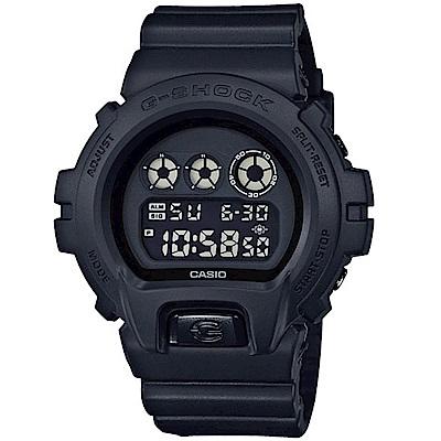CASIO卡西歐G-SHOCK經典6900系列霧黑運動錶-DW-6900BB-1