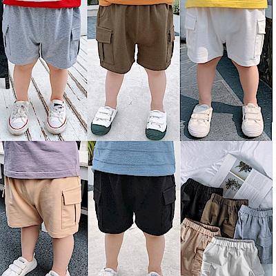小衣衫童裝  兒童夏季百搭棉質工裝褲短褲1080428