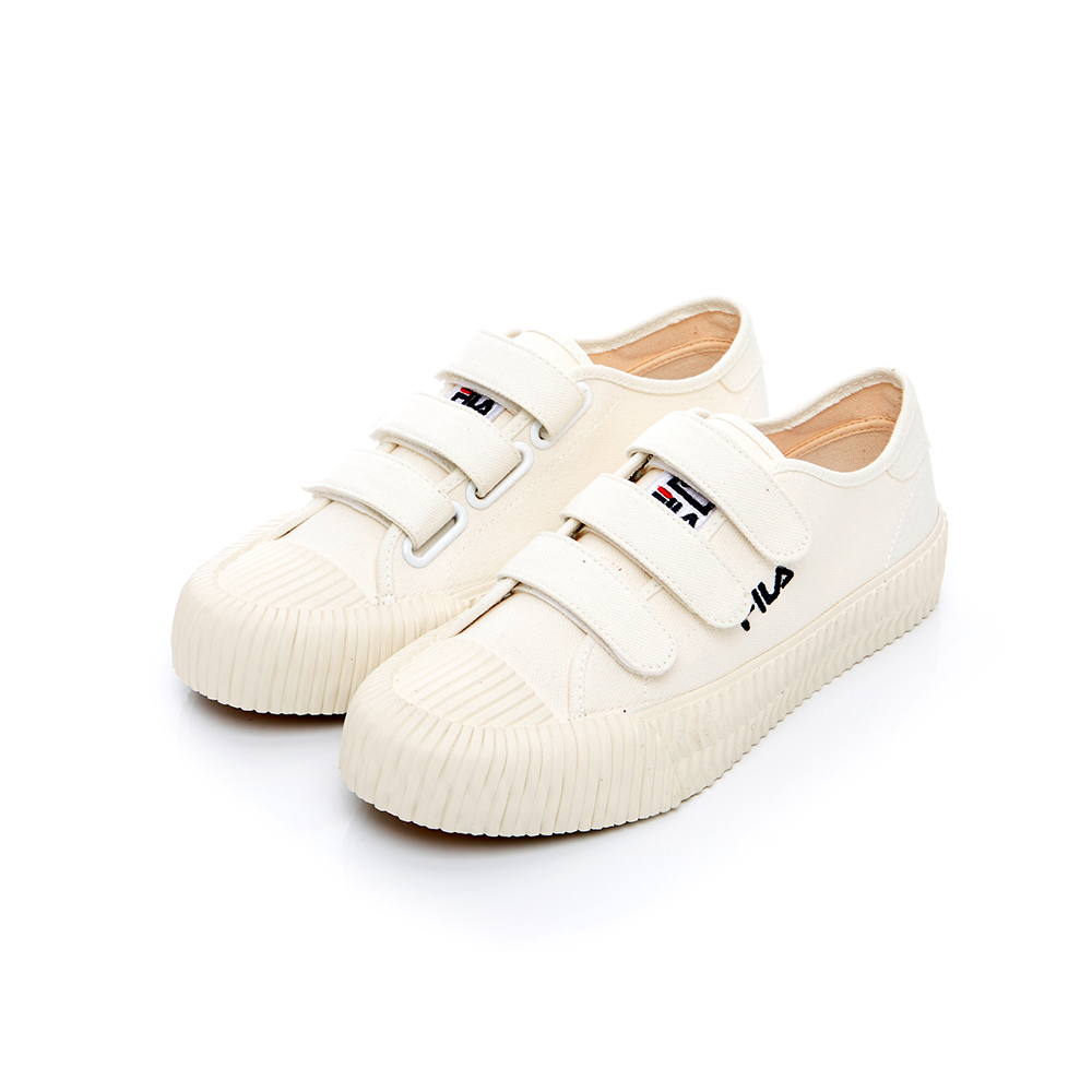 FILA 中性帆布餅乾鞋(防臭鞋墊)-米 4-C319T-111