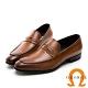 GEORGE 喬治皮鞋 氣墊系列 經典素面真皮核心氣墊紳士鞋-棕色 product thumbnail 1