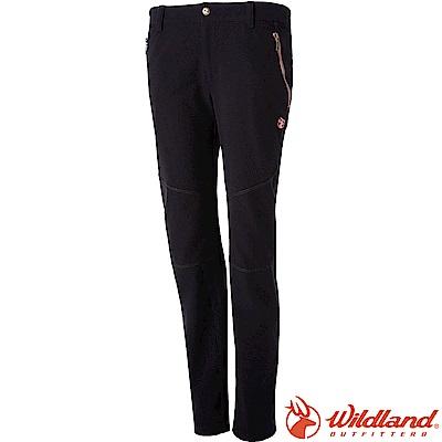 Wildland 荒野 0A52361-54黑 女RE彈性粗曠保暖長褲