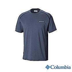 Columbia哥倫比亞 男款-UPF50快排短袖上衣-深藍 UAE15550NY