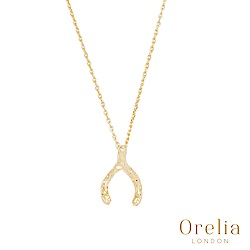 Orelia 英國倫敦 簡約抓皺幸運骨鍍金手鍊