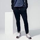 素色剪裁拉鍊造型運動棉感休閒長褲-OB大尺碼