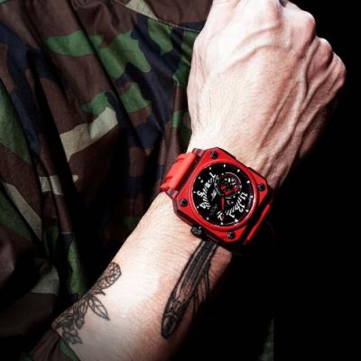 ROMAGO 碳霸系列 超級碳纖自動機械腕錶 - 紅色/46.5mm